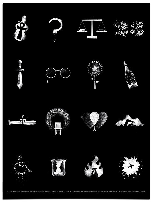 Lost bw poster